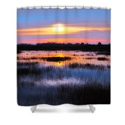 Dawn Over The Salt Marsh Shower Curtain