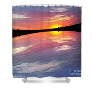 Dawn Sky And Water Shower Curtain