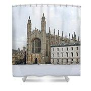 Dawn Sunshine Hit Kings College Chapel On Christmas Eve. Shower Curtain