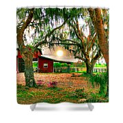 Dawning At The Barn Shower Curtain