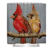 Dawn's Cardinals Shower Curtain