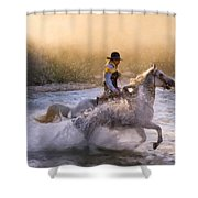 Dawn's Misty Waters Shower Curtain