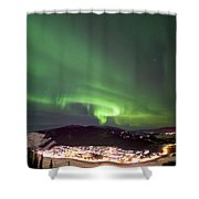 Dawson City Lights Shower Curtain