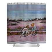 Day At Beach Shower Curtain