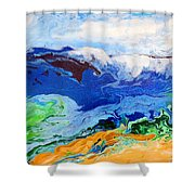 Day At The Beach #6 Shower Curtain