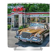 Day At The Diner Shower Curtain