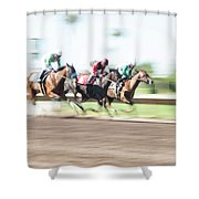 Day At The Races Shower Curtain