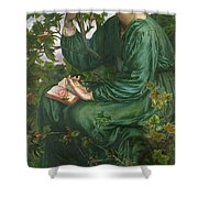 Day Dream Shower Curtain by Dante Charles Gabriel Rossetti