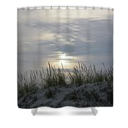Day Fades Behind The Dunes Shower Curtain