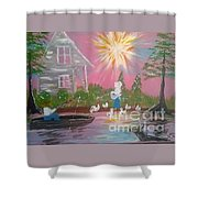 Day In Acadiana Shower Curtain