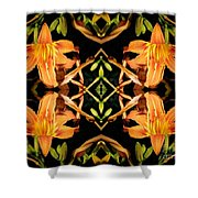 Day Lily Square Dance Shower Curtain