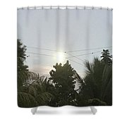 Day Moon Shower Curtain