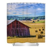 Day Of August Shower Curtain