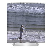 Day Of Ocean Fishing Shower Curtain