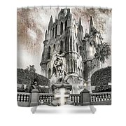 Day Of The Dead Alter Shower Curtain