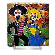 Day Of The Dead Bailar Shower Curtain