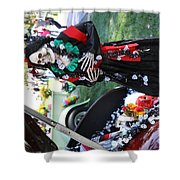 Day Of The Dead Car Trunk Skeleton  Shower Curtain