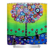 Day Of The Dead Cat'slife Shower Curtain
