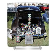 Day Of The Dead Classic Car Trunk Display  Shower Curtain
