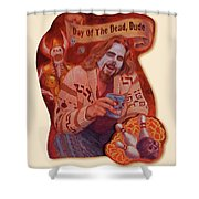 Day Of The Dead Dude Shower Curtain