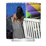 Day Of The Dead End Of Day  Shower Curtain
