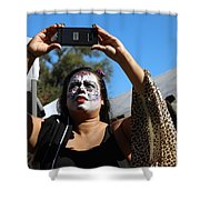 Day Of The Dead Iphone Woman Shower Curtain