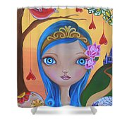 Day Of The Dead Princess Shower Curtain