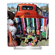 Day Of The Dead Truck Decorations  Shower Curtain