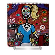 Day Of The Dead Waitress Shower Curtain