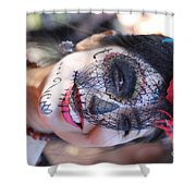 Day Of The Dead Woman I Shower Curtain