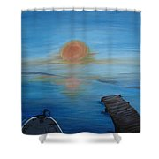 Day Out Fishing Shower Curtain