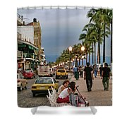 Day Time Maleconmexico  Shower Curtain