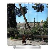 Day Walk In Jerusalem Shower Curtain