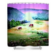 Daybreak And Clover Shower Curtain