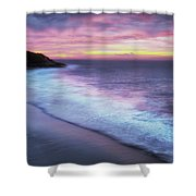 Daybreak At Caswell Bay Shower Curtain