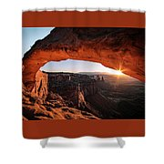 Daybreak At Mesa Arch Shower Curtain