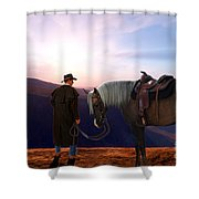 Daybreak Shower Curtain by Corey Ford