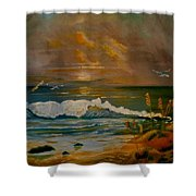 Daybreak On The Dunes Shower Curtain