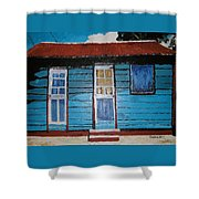 Daydreaming Blues Shower Curtain