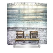 Daydreaming By The Sea In Watercolors Shower Curtain