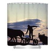 Day's End Amish Farmer Barnhill Shower Curtain