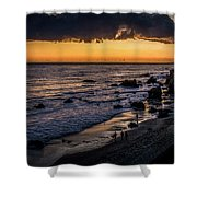 Days End At El Matador Shower Curtain