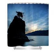 Day's End At Siwash Rock Shower Curtain