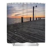 Days End Dock Shower Curtain