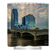 Days End In Grand Rapids Shower Curtain