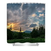 Days End In The Bog Shower Curtain