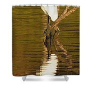 Days End With One Egret Shower Curtain