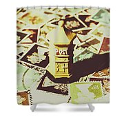 Days From The Vintage Post Office Shower Curtain