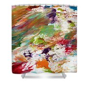Days Gone By- Abstract Art By Linda Woods Shower Curtain