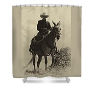Days Of Old Miss Aleto And The Cowboy Shower Curtain